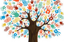 Colored hands tree