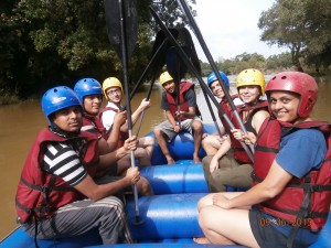 Rafting on Cauvery river
